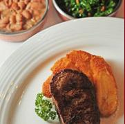 Arroz, feijão e bife do DOM - foto Paladar online