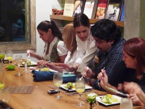 Explicações da chef até durante o jantar!