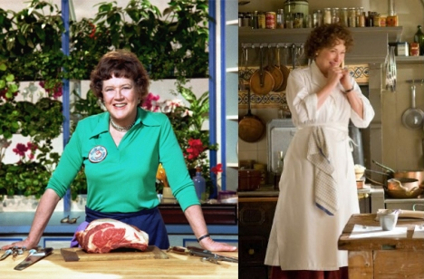 Julia Child e Meryl Streep